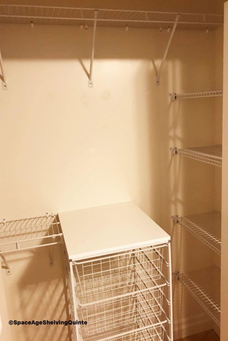 Wire Shelving Closet Organizer with Baskets