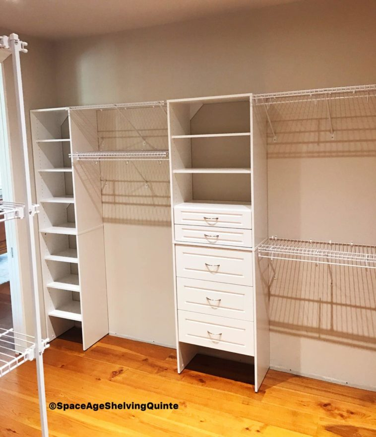 Wire Shelving and Melamine