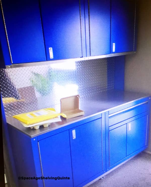 Garage Storage Cabinets available in a variety of colours