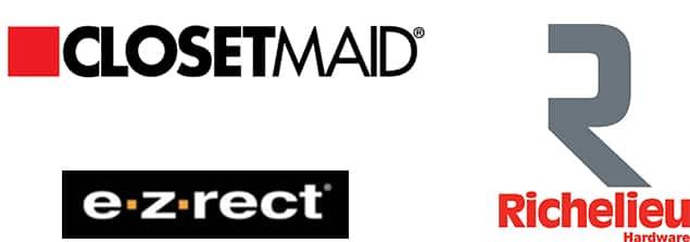 ClosetMaid, EZRect, Richelieu logos