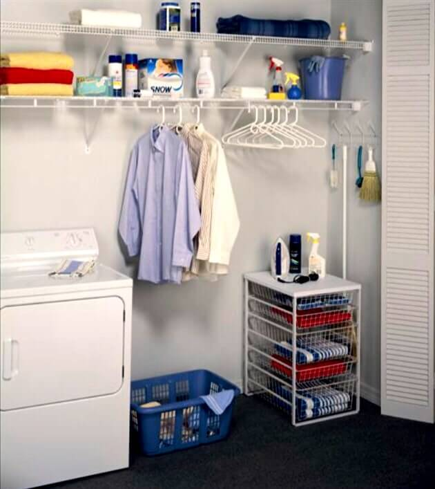 Wire Shelving - Laundry Room